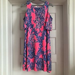 NWOT Lilly Pulitzer Cold Shoulder Dress Size Small